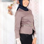 adrina ceket 3 150x150 Alvina Tesettür Giyim 2014 Elbise Bluz Pardesü Ceket Modelleri