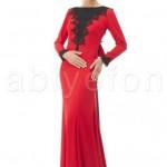 FO,4711,52,kirmizi-siyah-dantel-islemeli-arkasi-fiyonklu-elbise-m1370-hanim-hanimcik