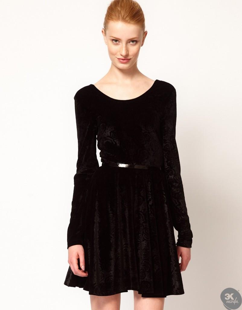 Kadife Elbise Modelleri 09