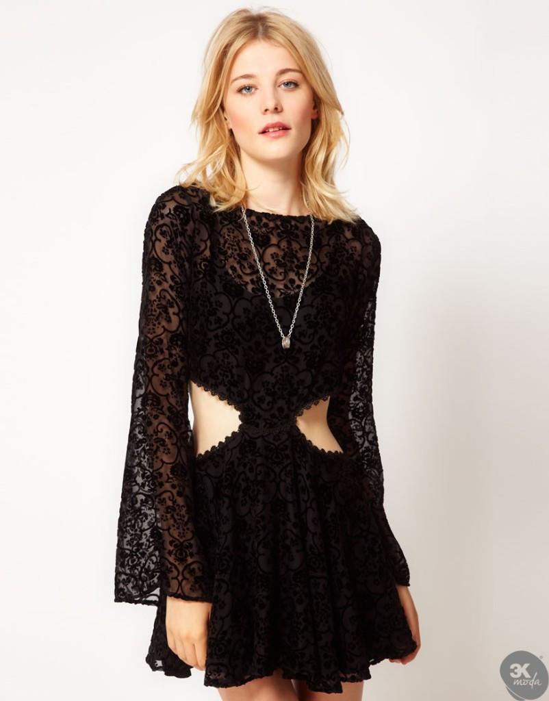 Kadife Elbise Modelleri 11