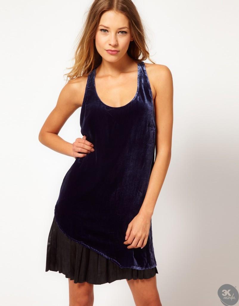 Kadife Elbise Modelleri 15