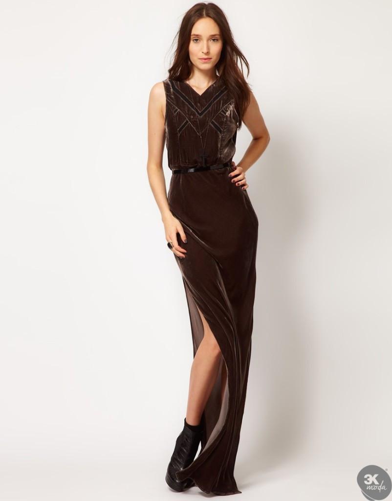 Kadife Elbise Modelleri 16