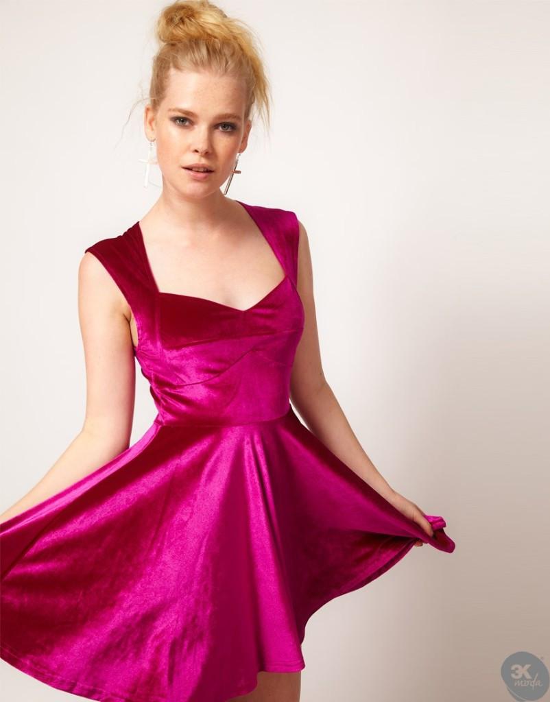 Kadife Elbise Modelleri 17
