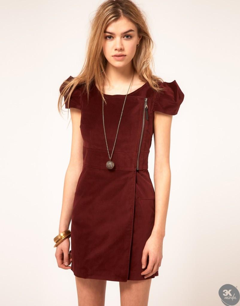 Kadife Elbise Modelleri 18