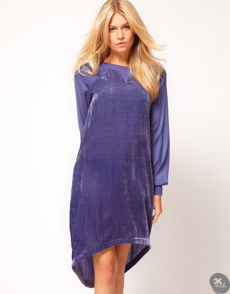 Kadife Elbise Modelleri 20
